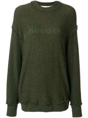 Logo print sweatshirt Eckhaus Latta. Цвет: зелёный