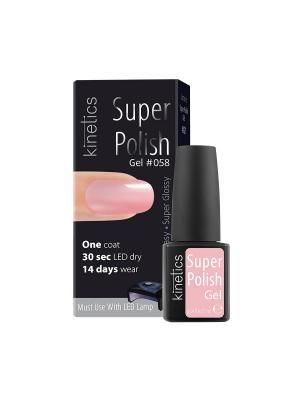 Однофазный гель-лак Super Polish (в коробке) (058) Kinetics. Цвет: бледно-розовый