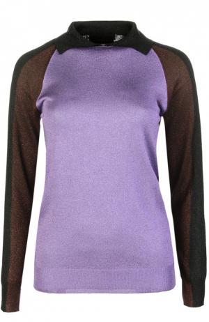 Вязаное поло Marni. Цвет: фиолетовый