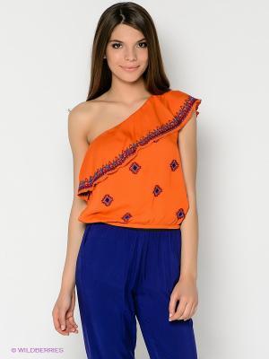 Блуза People. Цвет: оранжевый