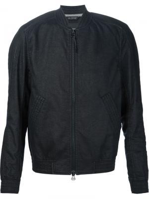 Фактурная куртка-бомбер Wings+Horns. Цвет: чёрный