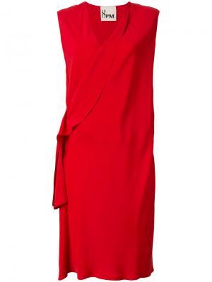 Платье с отворотом у выреза 8pm. Цвет: красный