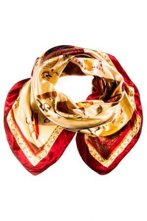 Платок Vita Pelle. Цвет: бордовый, золотистый