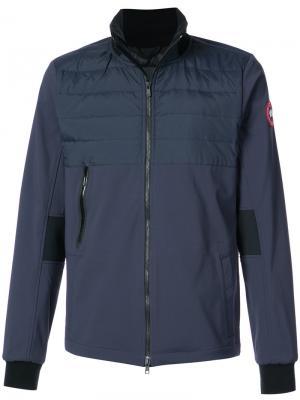 Куртка на молнии с дутыми вставками Canada Goose. Цвет: синий