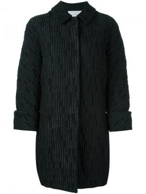 Фактурное пальто Gianluca Capannolo. Цвет: чёрный