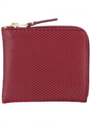 Кошелек с круговой застежкой-молнией Comme Des Garçons Wallet. Цвет: розовый и фиолетовый