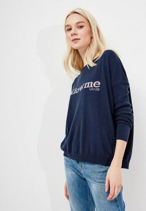 Джемпер Liu Jo Jeans. Цвет: синий