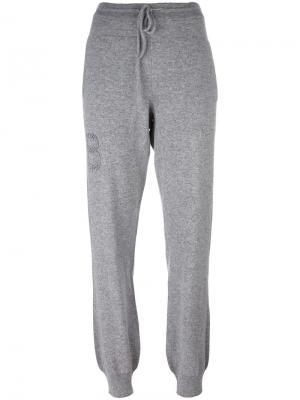 Кашемировые спортивные брюки Troisieme Dimension Barrie. Цвет: серый