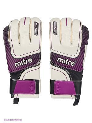 Перчатки вратарские MITRE Anza G2 Zirconium взрослые. Цвет: сиреневый, белый, черный