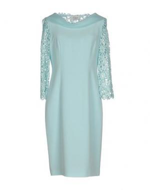Платье до колена MUSANI COUTURE. Цвет: небесно-голубой