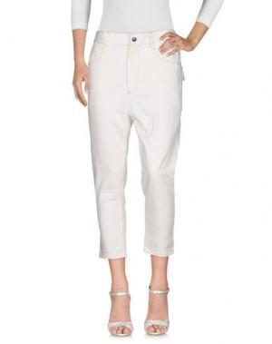 Джинсовые брюки SKILL_OFFICINE. Цвет: слоновая кость