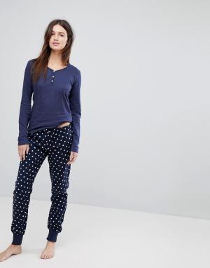 Esprit Пижама со звездным принтом. Цвет: мульти