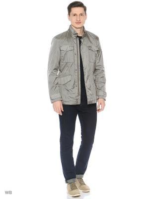 Куртка GEOX. Цвет: серый, серо-голубой