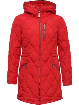 Стеганое пальто Finn Flare. Цвет: красный