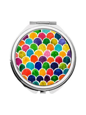 Зеркальце карманное Цветные соты Chocopony. Цвет: синий, голубой, зеленый