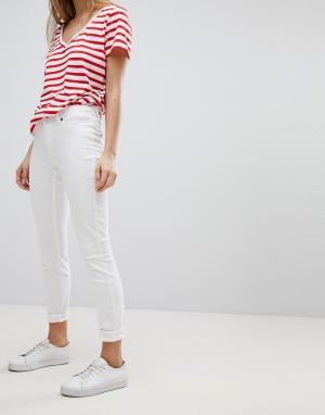 JDY Зауженные джинсы. Цвет: белый