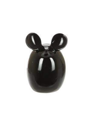 Статуэтка Мышь черная, полистоун, 14х11 Home Visage. Цвет: черный