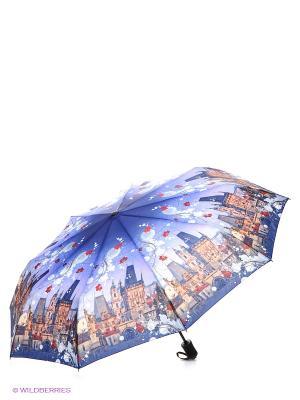 Зонт RAINDROPS. Цвет: синий, бежевый, белый