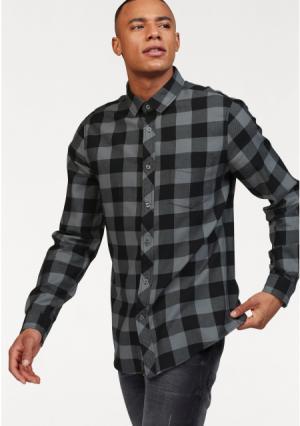 Рубашка JOHN DEVIN. Цвет: черный/серый