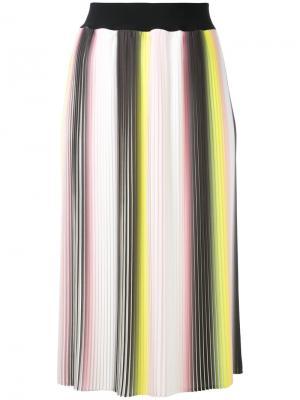 Плиссированная юбка Marco Bologna. Цвет: белый