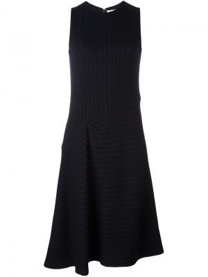 Платье в тонкую полоску 08Sircus. Цвет: чёрный