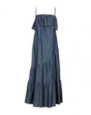 Длинное платье SUOLI. Цвет: синий
