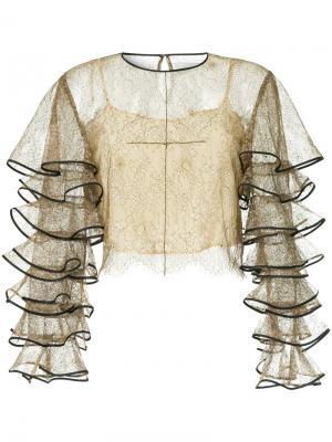 Кружевная прозрачная блузка Huishan Zhang. Цвет: многоцветный