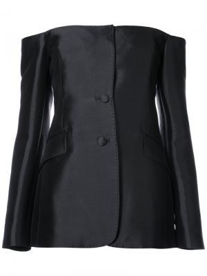 Строгая блузка с открытыми плечами Gabriela Hearst. Цвет: чёрный