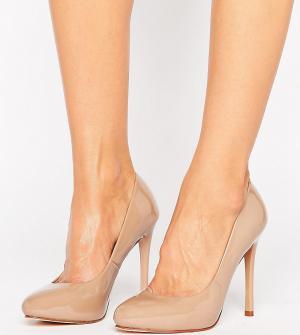 Faith Wide Fit Туфли на каблуке для широкой стопы Candy. Цвет: бежевый