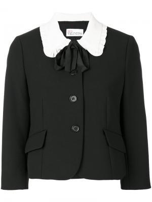 Пиджак с контрастным воротником Red Valentino. Цвет: чёрный
