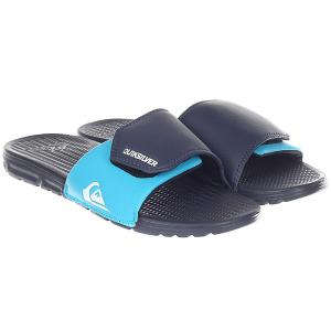 Шлепанцы  Shoreline Adjus Blue/Black Quiksilver. Цвет: синий,голубой