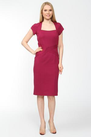 Платье со шлицей Arrangee. Цвет: фуксия