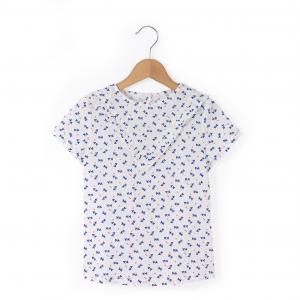 Блузка с короткими рукавами 3-12 лет La Redoute Collections. Цвет: набивной рисунок