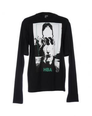Футболка HBA HOOD BY AIR. Цвет: черный