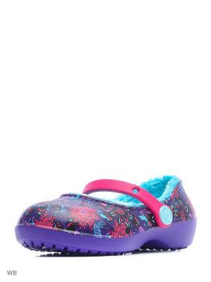 Сабо CROCS. Цвет: темно-фиолетовый, темно-бордовый