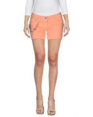 Джинсовые шорты ELISABETTA FRANCHI GOLD. Цвет: лососево-розовый