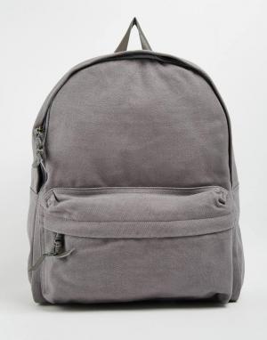 Buji Baja Холщовый рюкзак. Цвет: серый