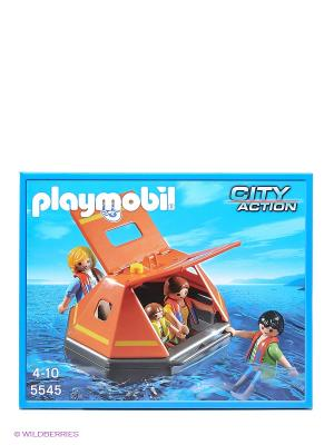 Береговая охрана Спасательный плот Playmobil. Цвет: голубой
