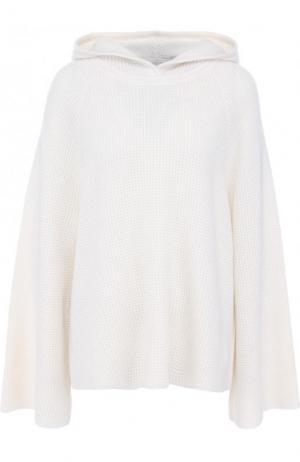 Кашемировый свитер фактурной вязки с капюшоном Elizabeth and James. Цвет: бежевый