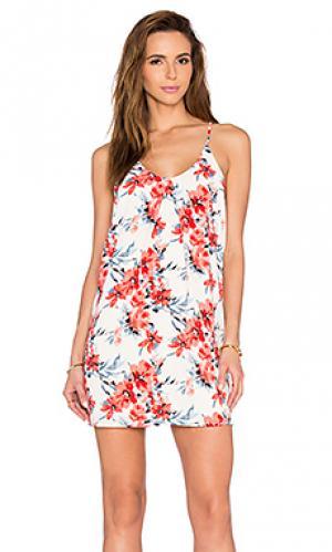 Платье с обратной плиссировкой Bishop + Young. Цвет: белый