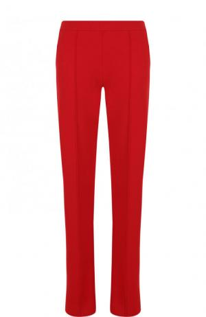 Однотонные брюки прямого кроя из вискозы Valentino. Цвет: красный