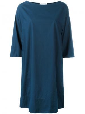 Платье со свободными рукавами Stefano Mortari. Цвет: синий
