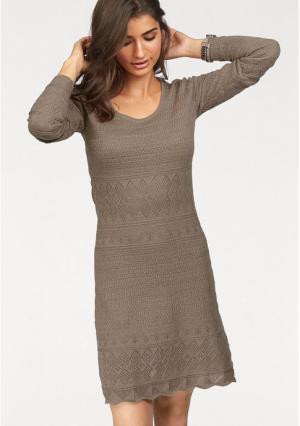 Платье BOYSENS BOYSEN'S. Цвет: серо-коричневый