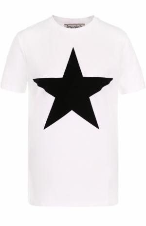 Хлопковая футболка с принтом в виде звезды Etre Cecile. Цвет: белый