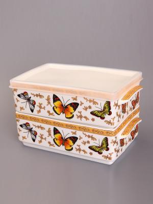Набор для холодца Бабочки Elan Gallery. Цвет: коричневый, золотистый, белый