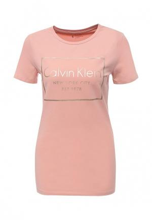 Футболка Calvin Klein Jeans. Цвет: розовый
