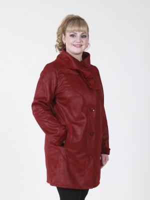 Пальто Шарлиз VIKO. Цвет: темно-красный