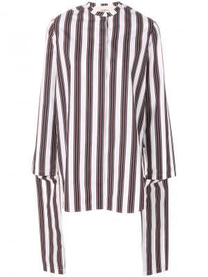 Блузка в полоску с драпировкой Ports 1961. Цвет: белый