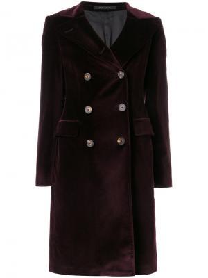 Двубортное пальто Tagliatore. Цвет: розовый и фиолетовый