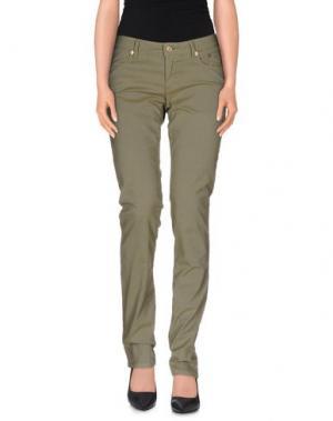 Повседневные брюки SIVIGLIA. Цвет: зеленый-милитари